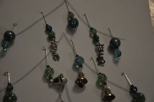 Handmade lightcatchers, earings and mini Christmas Decorations