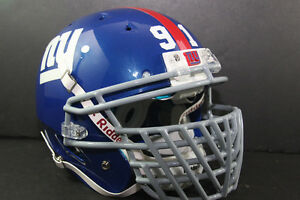 NEW YORK GIANTS Custom Schutt JUSTIN TUCK #91 Game Style DNA Football Helmet
