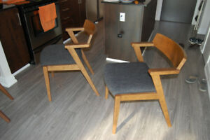 Two (2) Zolo Licorice Dining Chairs by Article