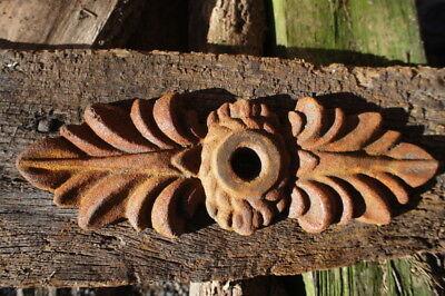 Maueranker wie antik, Pfettenanker Wandornament, schöner Wandanker Doppelblatt