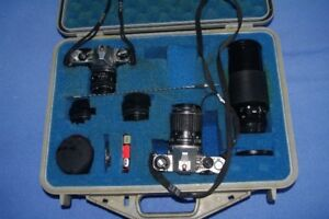 Pentax ME, ME Super Cameras with Lens in a Pelican Case