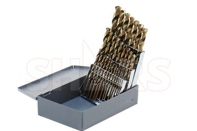 29 Pcs 116-12 X 64ths M35 Cobalt Straw Jobber Drill Set Huot Index Box P