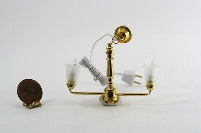 Dollhouse Miniature Up-Arm Bell Shade Chandelier ()