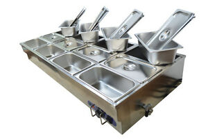 12-Well Commercial Bain-Marie Buffet Food Warmer 190099