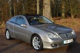 2005 MERCEDES BENZ C CLASS C220 CDI SE 3dr Auto DIESEL ONLY 42,000 MILES