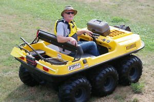 6X6 Argo Amphibious vehicle drives on land and on the water. Lik