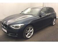 2014 BLUE BMW 118D 2.0 SPORT DIESEL MANUAL 5DR HATCH CAR FINANCE FR 37 PW