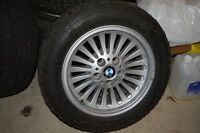 BMW WHEELS AND WINTER TIRES (STUDDED) FOR SALE!