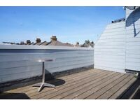 STUNNING SPACIOUS 1 DOUBLE BEDROOM FLAT WITH PRIVATE ROOF TERRACE NEAR ZONE 2 TUBE, TRAIN & BUSES