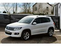 2013 VW TIGUAN R LINE TDI 4MOTION FVSH TOP SPEC CANDY WHITE