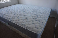 Queen matress with box-rarely used for guests only