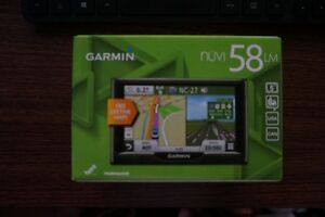"GARMIN GPS 58LM, 5"" SCREEN, LIFETIME MAP, BRAND NEW."