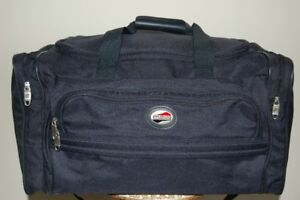 Navy Blue American Tourister Canvas Duffle Bag