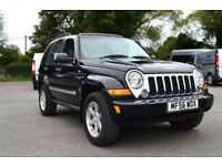 LATE 2006 56 JEEP CHEROKEE 3.7 V6 4WD AUTO LIMITED DUAL FUEL LPG BLACK PX SWAP