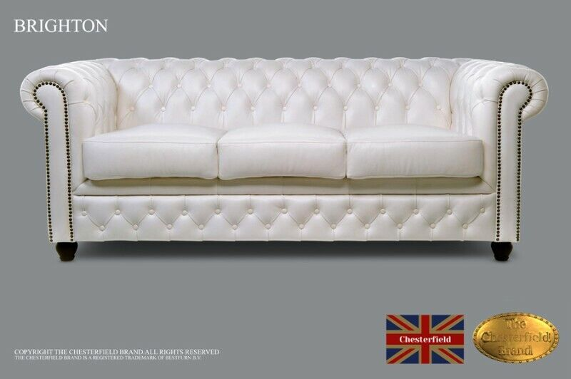 Chesterfield Sofa -The Chesterfield Brand Authentic-3 seats-Real leather -HANDMADE