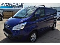 2017 FORD TRANSIT CUSTOM 270 LIMITED SWB EURO 6 BLUE VAN LOW MILES PANEL VAN DIE