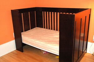 Mission Style Crib-Toddler Bed: Morigeau Lepine