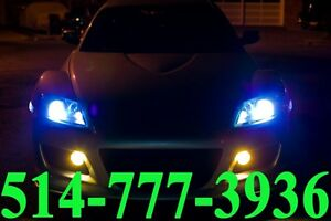 MAZDA KIT HID XENON CONVERSION CAR HEADLIGHTS PHARE INSTALLATION