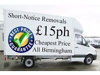 Cheap Short-Notice Man and Van Hire £15ph Removals Services Call Now