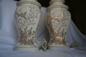 Gorgeous Cream Matching Lamps