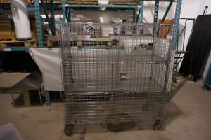 Metro Heavy Duty Stainless Steel Commercial Rolling Wire Cage