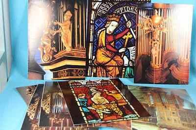 9 Blätter mit farb. Abbildungen  Orgeln und Kirchenfenstern/ Pharmawerbung /S124