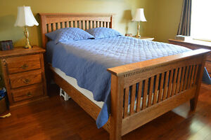 Custom built solid oak bedroom suite for sale - $12,500 OBO