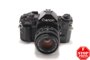 Canon A-1 (Black) with Canon FD 50mm f1.8 Lens