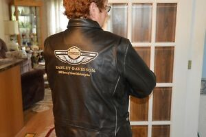 Ladies 100th Anniversary leather riding jacket