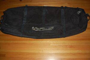 snowboard, golf or kiteboard bag suitcase padded with wheels