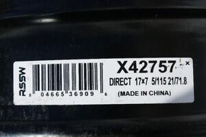 4jantes acier 17X7 / 5-115 et / 21 CB 71.8  #X42757