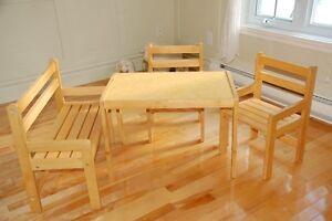 Table chaises enfant