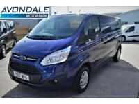 2017 FORD TRANSIT CUSTOM 290 TREND LWB BLUE VAN L2 EURO 6 WITH AIR-CON AND CRUIS