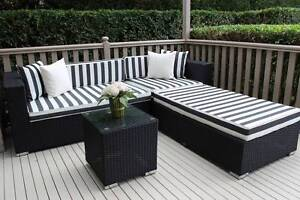 WICKER  LOUNGE CHAISE SETTING, EUROPEAN STYLING,B/NEW Port Melbourne Port Phillip Preview