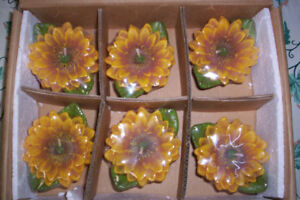 Sunflowers, Basket candles that float, Garden, Home Decor