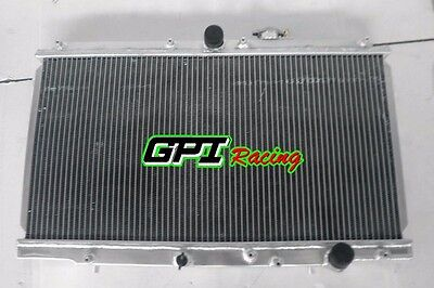 - 2 ROW new Aluminum Radiator fit for 1997-2001 HONDA PRELUDE 2.2L MT 98 99 00 01
