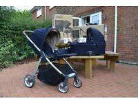 Mamas & Papas Navy Armadillo Flip XT Pushchair/Carrycot/Footmuff/Car seat Adapters/Raincover