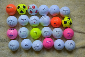 Mostly Callaway and Nike with some other balls in exc. cond.
