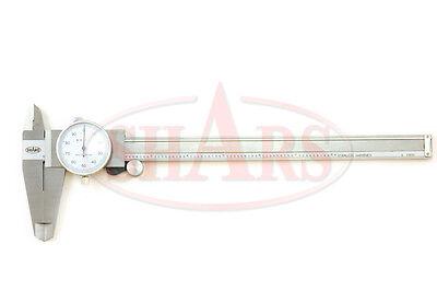 0- 8 Precision White Dial Caliper Calipers In Case New