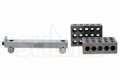 Shars Ground 1 X 6 Precision 5 Sine Bar .00004 1-2-3 Blocks Set New