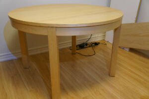 Ikea Bjursta Extendable Table - Birch