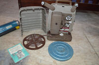 Bell & Howell 8mm project with Radiant Wall Screen