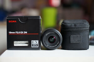 Sigma 19mm EX DN f2.8 lens for Sony E-mount