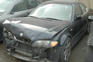 C BMW e46 330i Hit in Front Black on Tan M54 5spd Manual 2004 AB