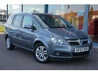 2007 VAUXHALL ZAFIRA 1.8i Design LEATHER, 16 ALLOYS, 7 SEATS and AIR CON