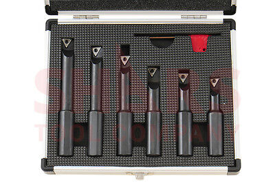 Shars 58 Shank 6 Pieces Indexable Boring Bar Set W Free Tcmt Inserts New
