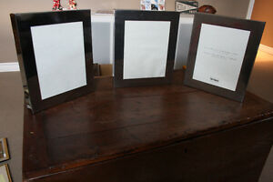 """3 Metal Picture Frames 10.5 x 12.5"""""""
