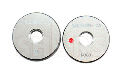 Shars 38-24 Unf Go No-go Thread Ring Gage 2pcs Set New