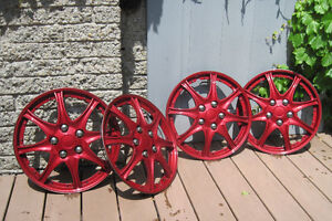 """15"""" Wheel Covers, Candy Red / Enjoliveurs 15"""" rouge-candy"""