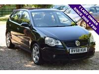 2008 58 VOLKSWAGEN POLO 1.4 MATCH 5D 79 BHP, 1 LADY OWNER SINCE 2009 + FSH